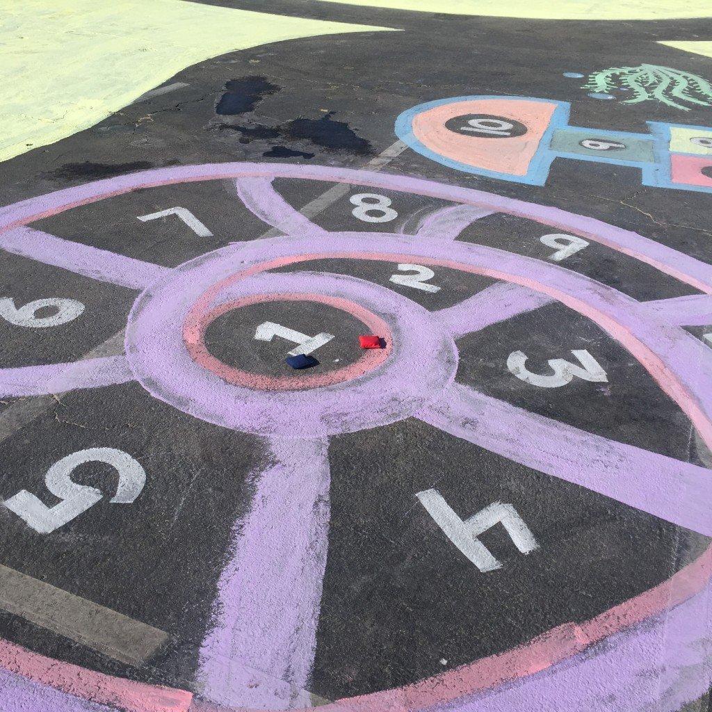 Rose Art Washable Sidewalk Chalk Paint 2ct Glitter Orange//Blue