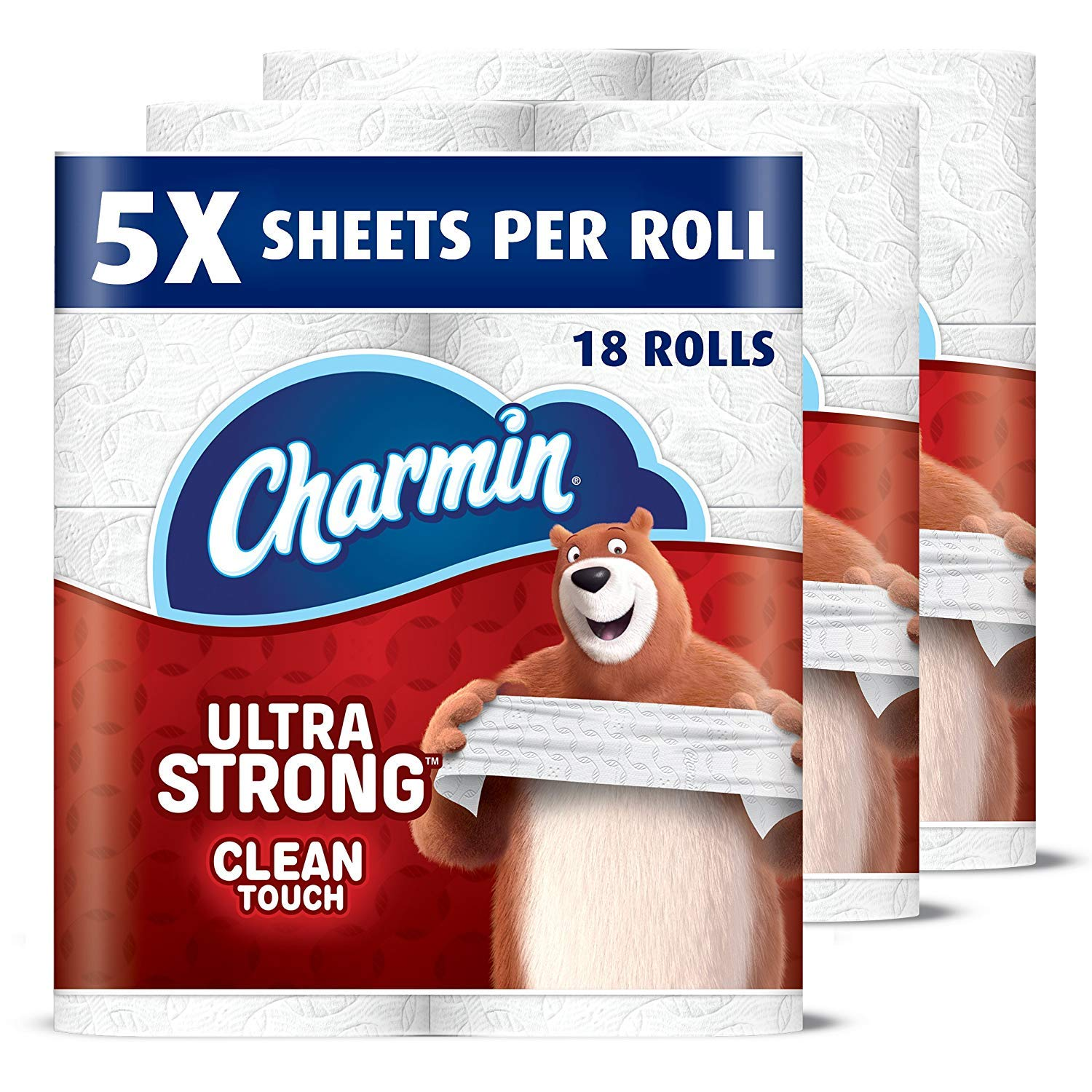 Charmin Ultra Strong Clean Touch Toilet Paper, Family Mega Rolls (Equal to 90 Regular Rolls), 18 Count by Charmin