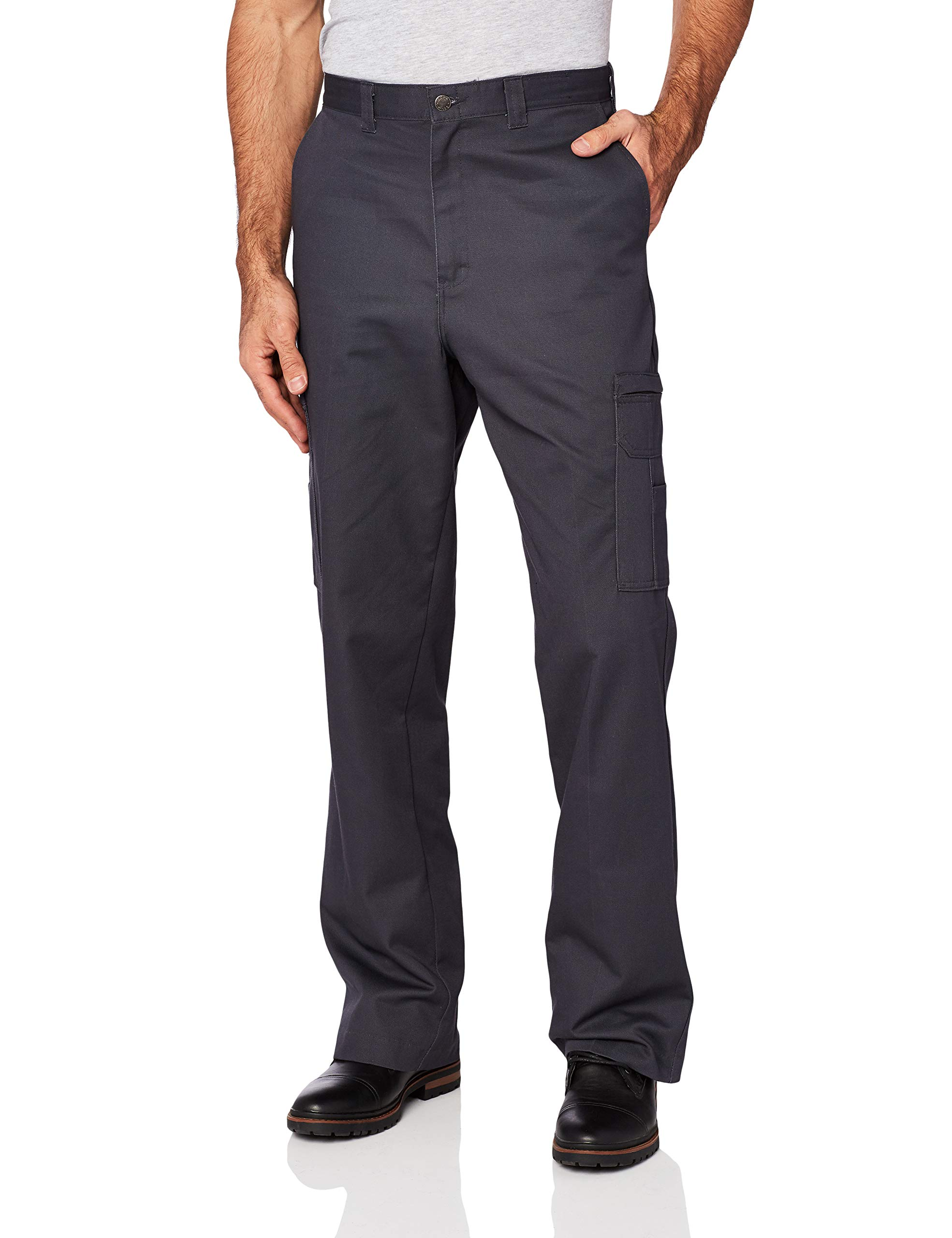 Dickies Occupational Workwear LP337CH Cotton Relaxed Fit Men's Industrial Cargo Pant with Straight Leg Dark Charcoal