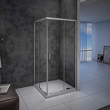 Mampara de ducha, Apertura Central, Puertas Correderas 80x70x185cm: Amazon.es: Bricolaje y herramientas