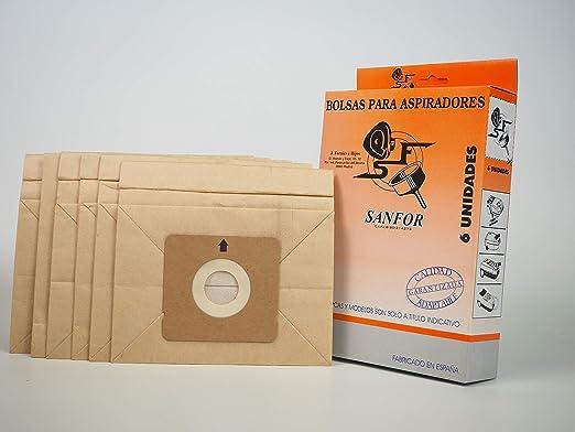 Sanfor 64160 Caja Bolsa aspirador adaptable tipo ROWENTA R-RO39 6 ...