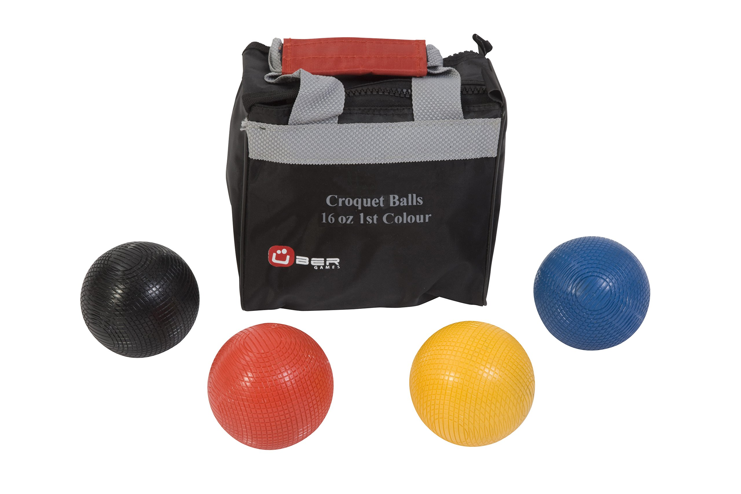 Uber Games Composite Croquet Ball Set - 1st Color - 16oz by Uber Games