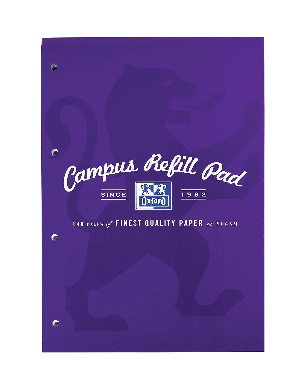 Oxford Campus - Recambio para cuaderno de notas (A4, 5 unidades), varios colores Hamelin 400013925