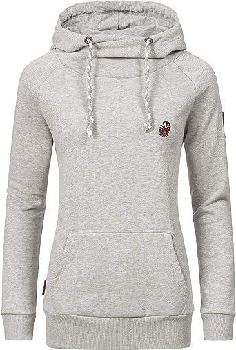 Marikoo Damen Hoodie Sweater Jacke Kapuzen Pullover Kordel Sport Pulli NEU Sukoo