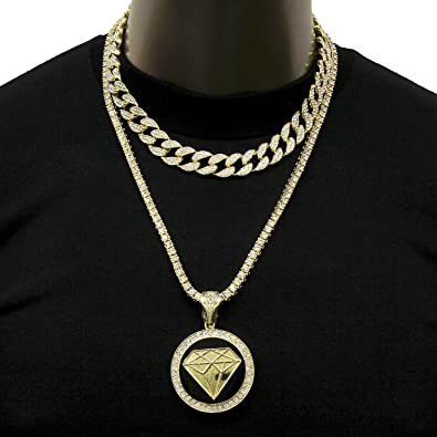 Mens Hip Hop Black Diamond W 18quot Fully Iced Cuban 1 Row