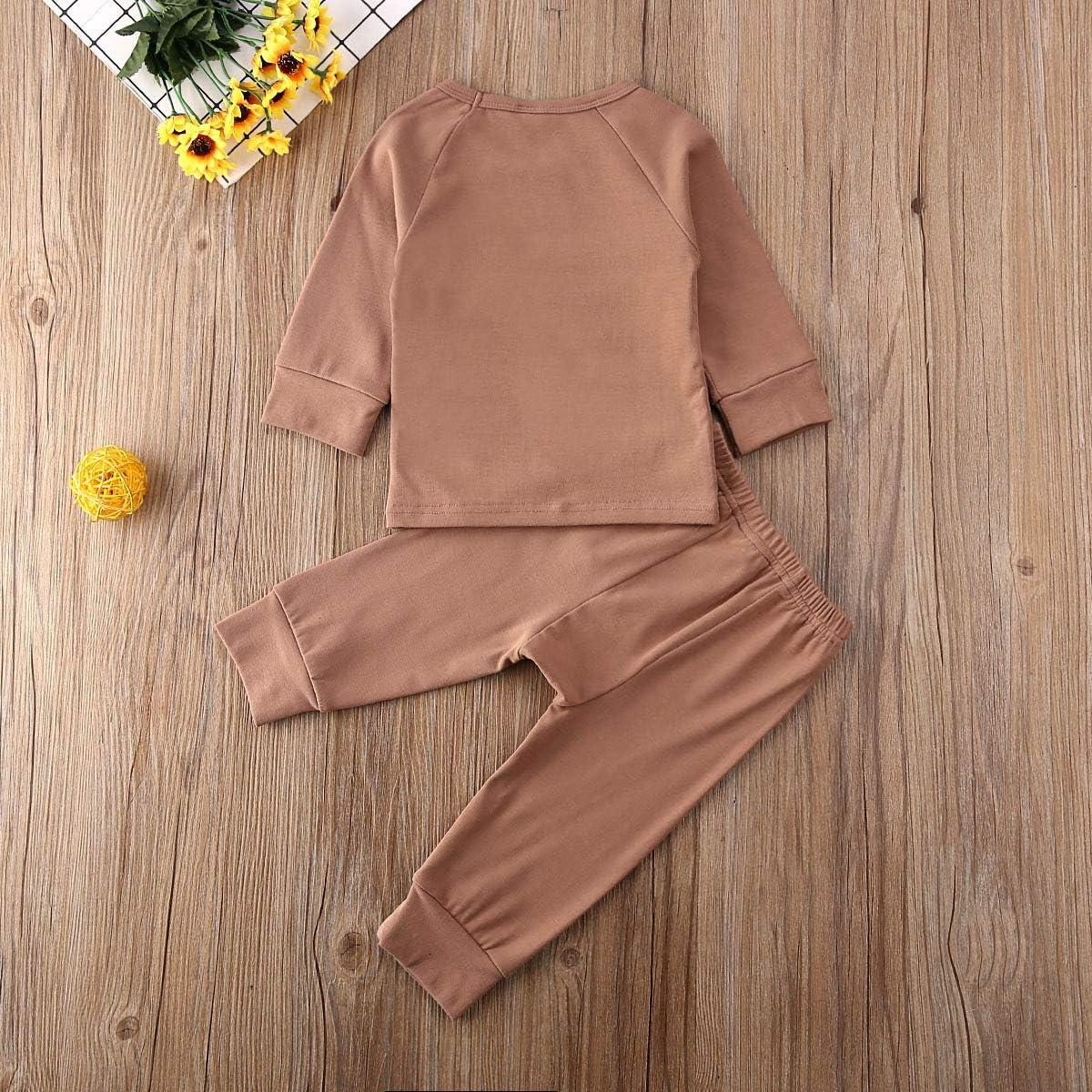 Liyamiee Newborn Baby Boy Girl Clothes Outfit Long Sleeve Shirt Blouse Tops Harem Drawstring Pants Legging Sets
