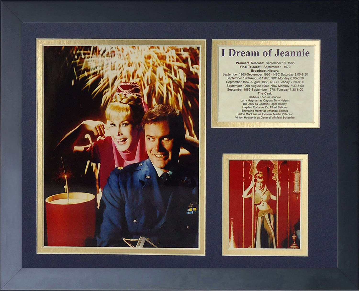 """I Dream of Jeannie 11"""" x 14"""" Framed Photo Collage"""