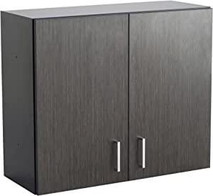Safco Products Modular Hospitality Breakroom Wall Cabinet, 1 Adjustable Shelf, Asian Night Base/Black Top