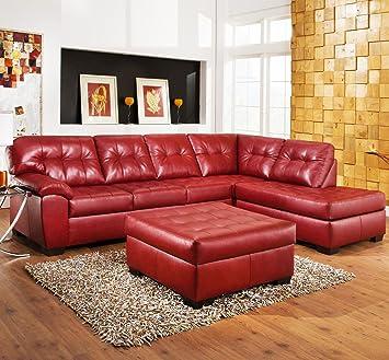 Amazon Com Roundhill Furniture Addiya 3 Piece Bonded Leather