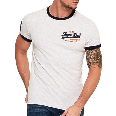 718c88f2 Superdry Vintage Logo Ringer T-Shirt Ice Marl XXXL Grey: Amazon.co.uk:  Clothing