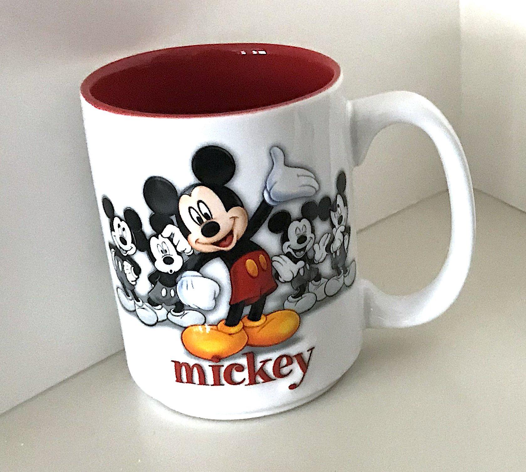 Walt Disney World Mickey Mouse Raised Design Ceramic Mug Cup