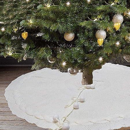 Upxiang - Falda de árbol de Navidad, 122 cm, Piel Artificial, para ...