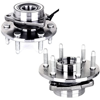 cciyu 515036 Wheel Hub and Bearing Assembly Replacement for fit Cadillac Escalade Chevrolet Express GMC Savana Front Wheel Hubs with ABS 6 Lugs (2): Automotive