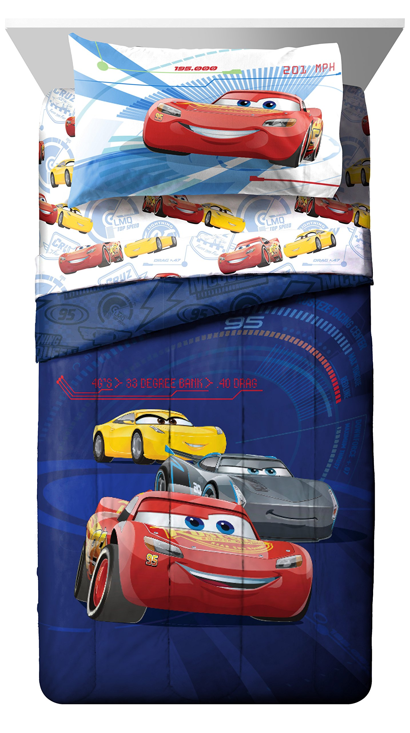 Jay Franco Cars 3 High Tech Twin 3 Piece Sheet Set, Red by Jay Franco (Image #6)