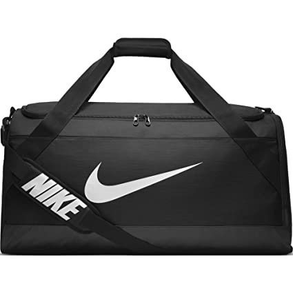 Amazon.com  NIKE Brasilia Training Duffel Bag, Black Black White ... d3d8743a0a