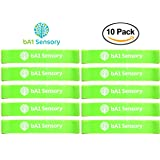 Fidget Kick Bouncy Chair Bands (10 Pack) - Education Supplies - Silently Improves Focus for Classroom Students - ADHD ADD SPD OCD Autism and Sensory Tool - Bounce & Stretch Foot Band for Seats