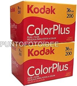 Kodak Color Plus - Carretes de fotos de 35mm y 200/36, lote de 2unidades -