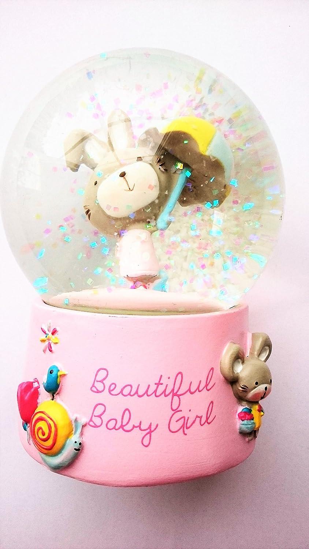 Handsome Baby Girl Snow Globe Christening or new Baby Gift: Amazon ...