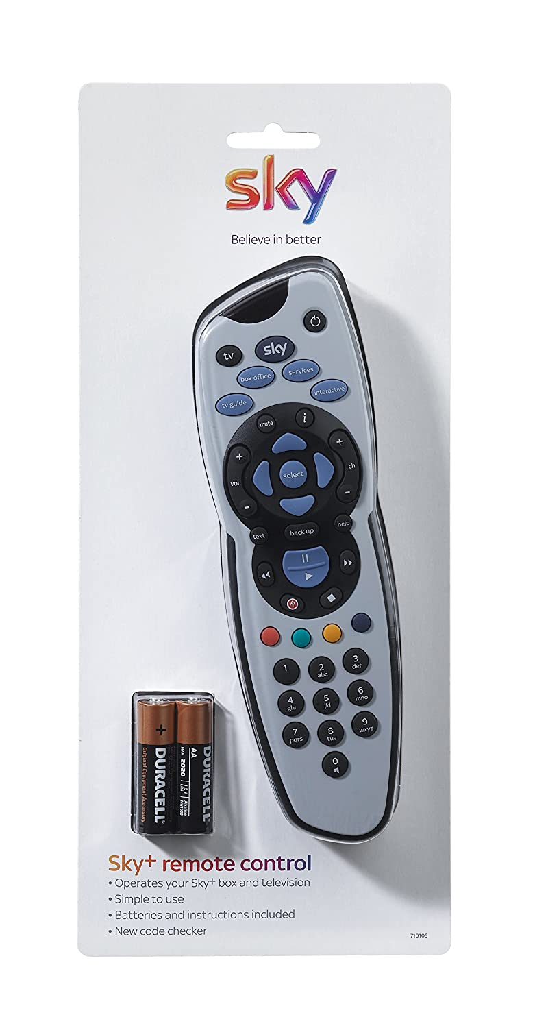 Sky Remote Control sealed in Official Sky Branded Retail Packaging including Duracell Batteries and Manual SKY101