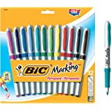 BIC Marking Fashion Permanent Marker, Ultra Fine Point, Assorted Colors, 12-Count