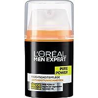 L'Oreal Men Expert Pure Power Feuchtigkeitspflege, Anti-Hautunreinheiten, Tägliche Pflege, 50 ml