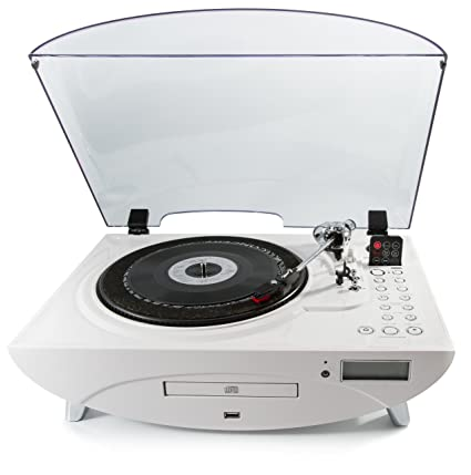 Awesome Gpo Jive Record Player Retro 3 Speed Vinyl Turntable Cd Fm Radio Mp3 Usb Speakers White Pabps2019 Chair Design Images Pabps2019Com
