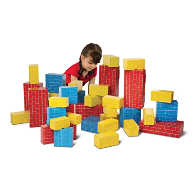 Melissa & Doug Jumbo Cardboard Blocks - 40 Pieces: Melissa & Doug: Toys & Games