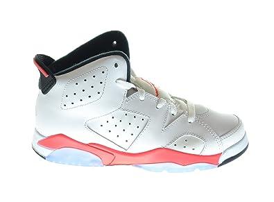 Air Jordan 6 Retro (BP) Little Kids Basketball Shoes White/Infrared-Black