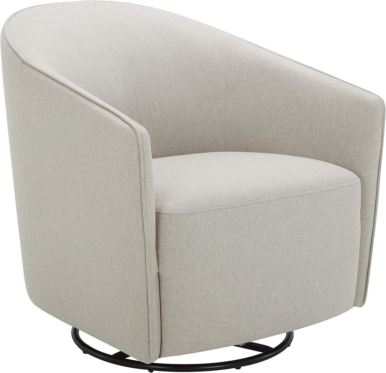 Silver grey swivel glider club chair