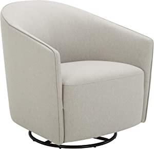 """Amazon Brand – Rivet Stowell Modern Glider Chair with Curved Back and Arms, 29.5""""W, Silver Grey"""