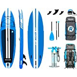 """iROCKER All-Around Inflatable Stand Up Paddle Board 10'/11' Long 32"""" Wide 6"""" Thick SUP Package"""
