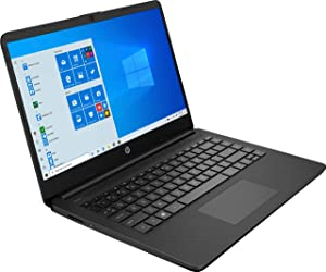 "HP 14 14.0"" Laptop Computer, AMD Athlon Silver 3050U Up to 3.2GHz (Beats i3-7130u), 4GB DDR4 RAM, 128GB SSD, AC WiFi, Webcam, Microphones, Black, Windows 10 S, BROAGE MousePad, Online Class Ready"