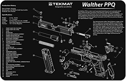Amazon Com Tekmat Gun Cleaning Mat For Use With Walther Ppq Hunting Cleaning And Maintenance Products Sports Outdoors