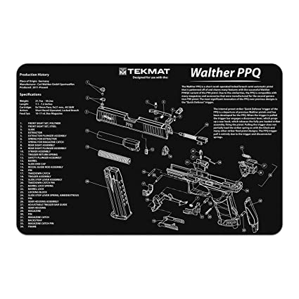 amazon com tekmat walter ppq gun cleaning mat with parts diagram walther cp99 compact laser tekmat walter ppq gun cleaning mat with parts diagram and instructions armorers bench mat