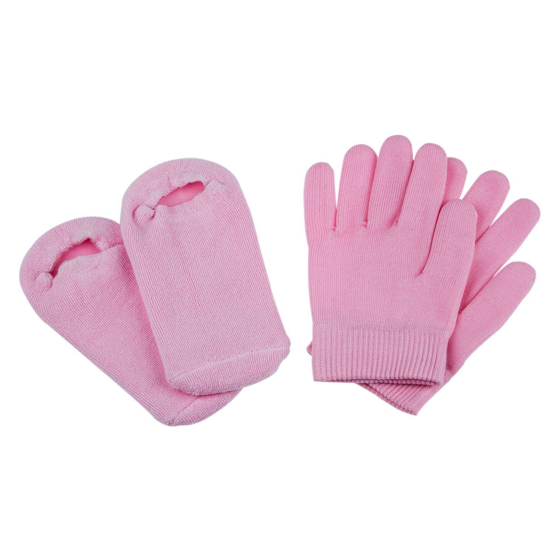 SODIAL (R) Bellezza SPA Calze & Guanti di idratazione Gel Terapia Cura della pelle - Rose