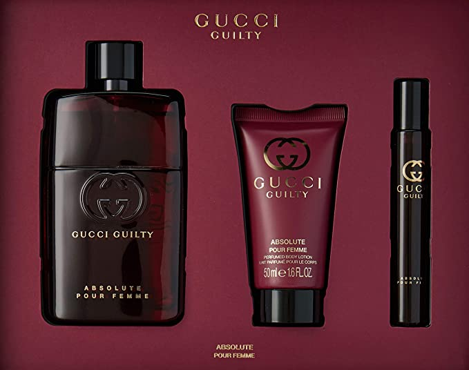 Gucci Guilty Absolute Pour Femme Geschenkset 90ml EDP + 50ml Body Lotion + 7.4ml Rollerball: Amazon.es: Belleza