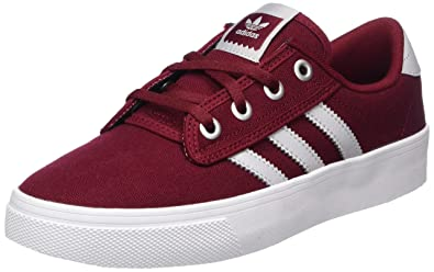 adidas Kiel, Chaussures de Gymnastique Mixte Adulte, Multicolore (Collegiate Burgundy/LGH Solid Grey/FTWR White), 44 2/3 EU