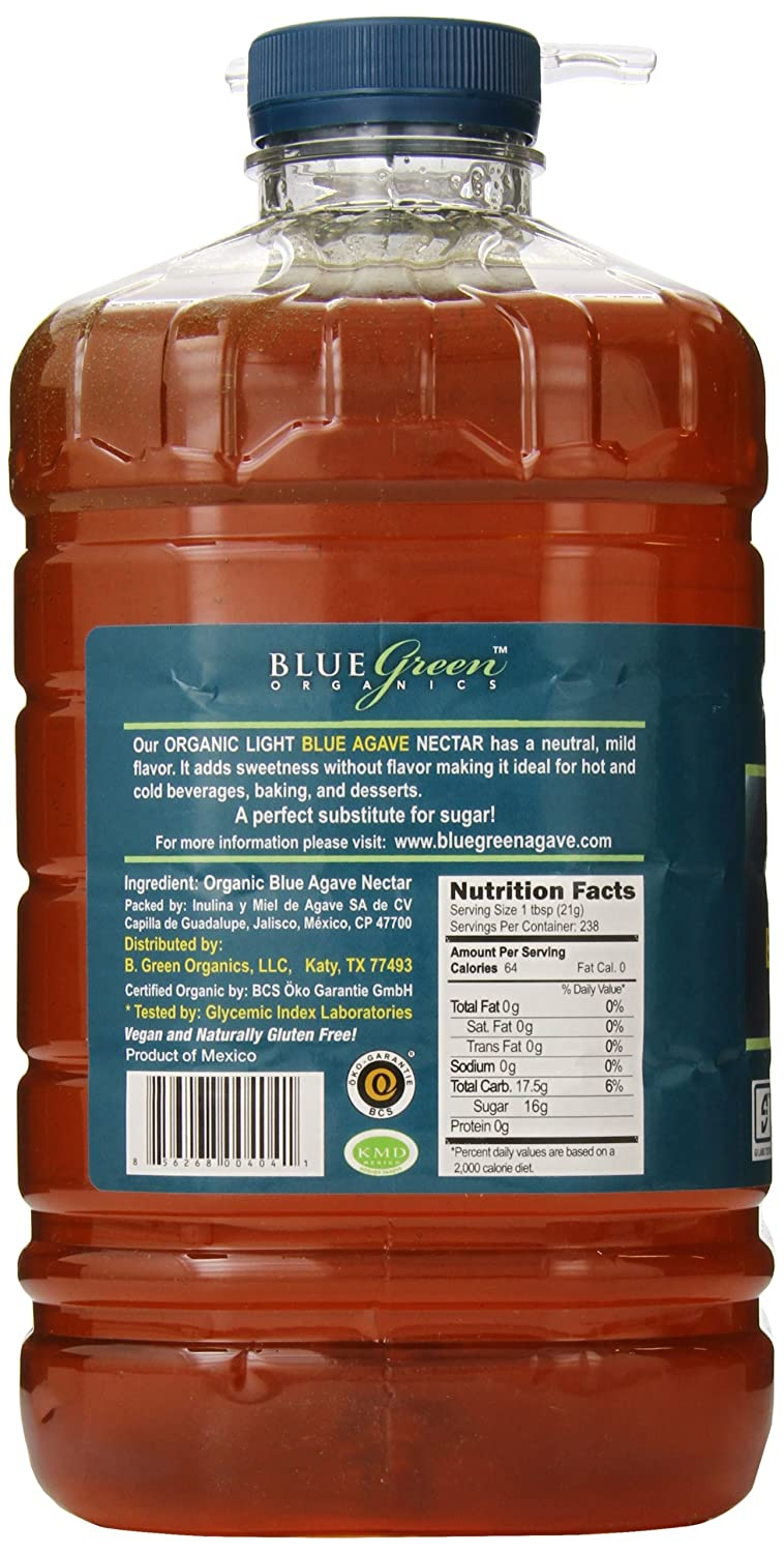 Amazon.com : Blue Green Agave Organic Nectar, Light Blue, 176 Ounce : Grocery & Gourmet Food