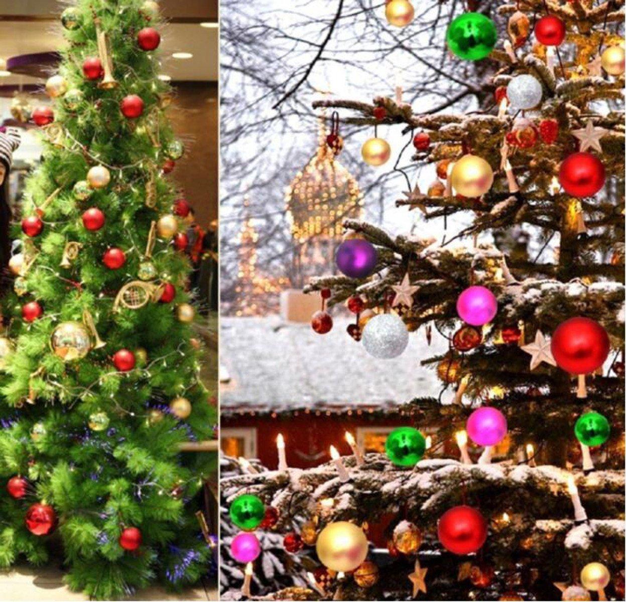 Bolas De Navidad Árbol De Navidad Decoración De Navidad Bolas De Navidad Bola Pintada En Botella,Goldandred: Amazon.es: Hogar