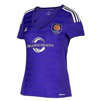 Adidas MLS Orlando City SC Mujer Camiseta de Manga Corta Camiseta de fútbol, Regal Morado