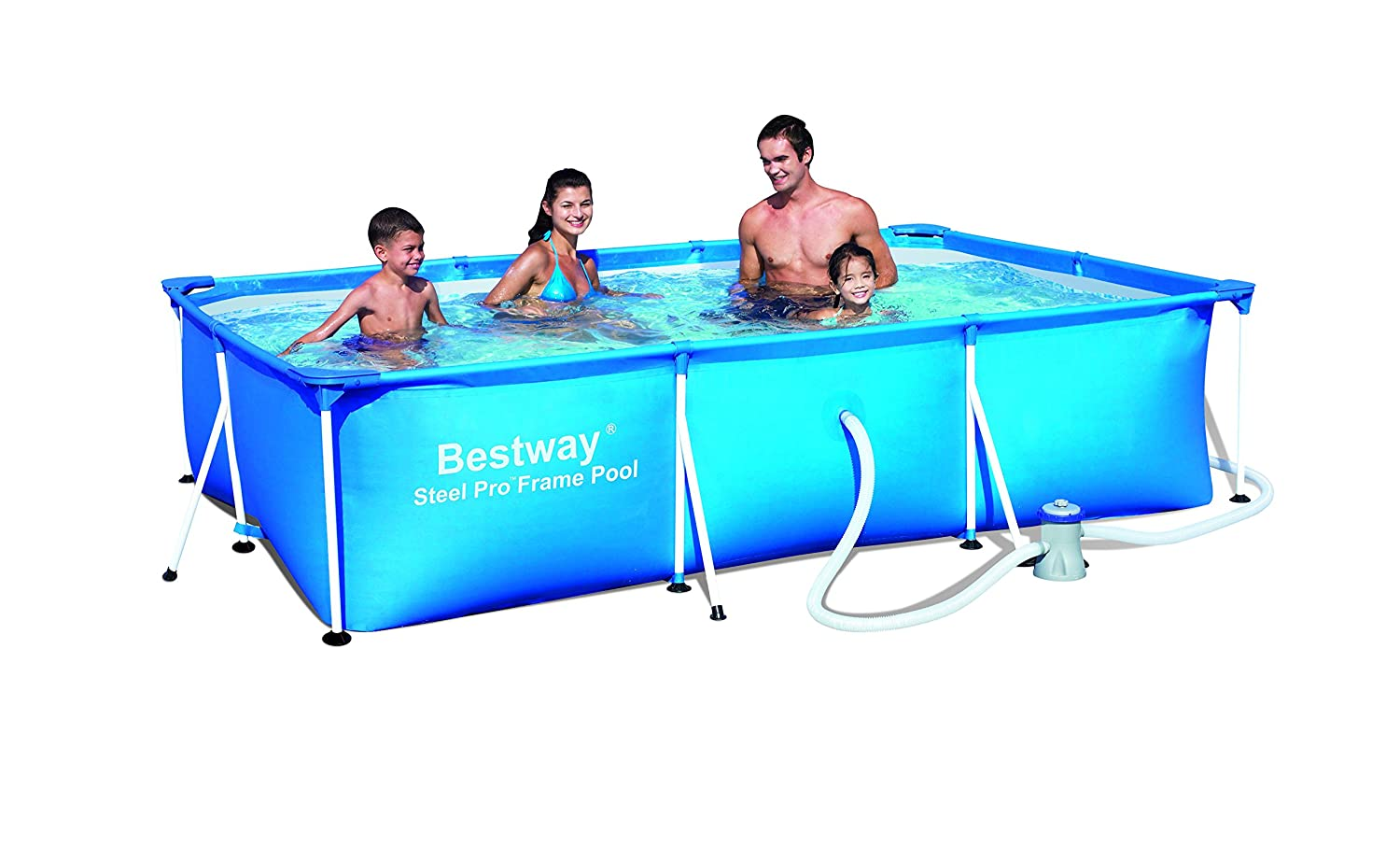Bestway 118 x 79 x 26-inch Deluxe Splash Frame Pool Set 56078