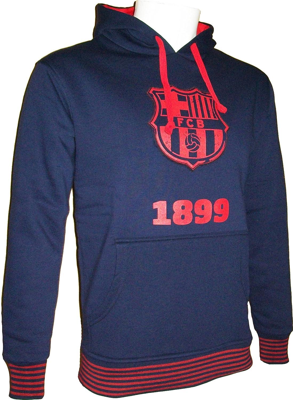 F.C. Barcelona - Sudadera con capucha del Barça (colección oficial del F.C. Barcelona, talla de adulto) Azul azul Talla:large: Amazon.es: Deportes y aire ...