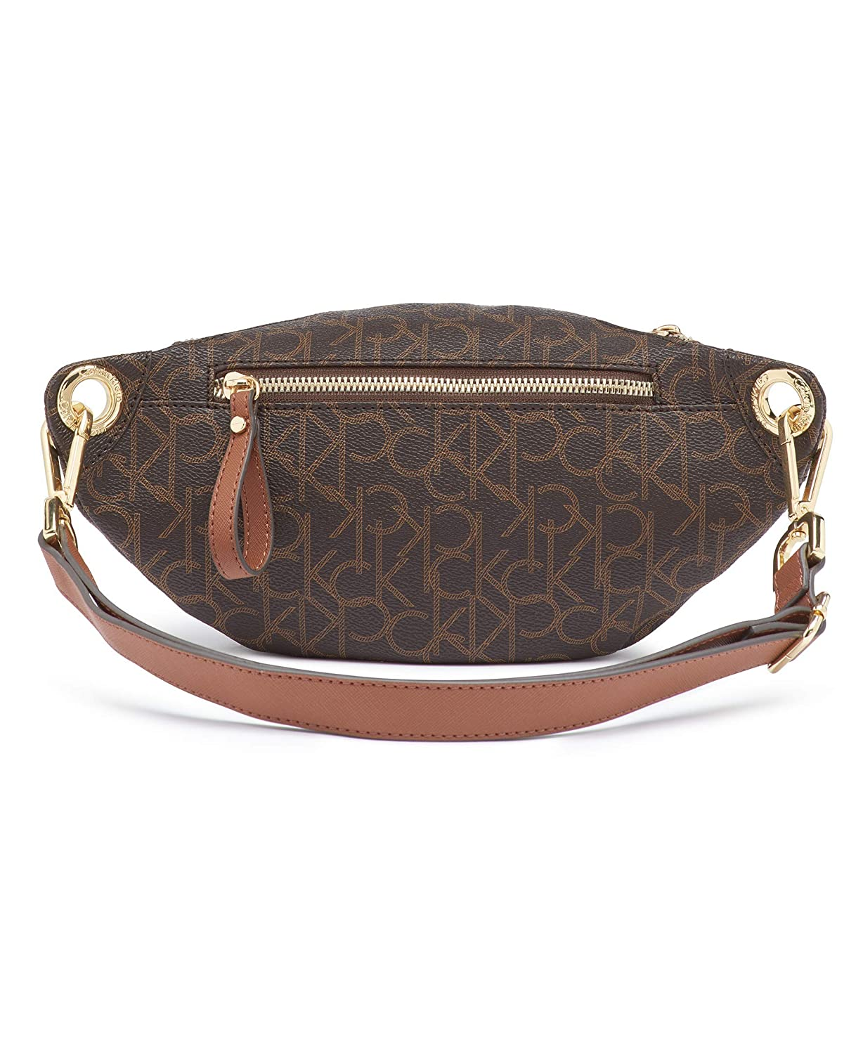 8f369050c8 Amazon.com: Calvin Klein Sonoma Signature Monogram Belt Bag,  brown/khaki/luggage saffiano: Clothing