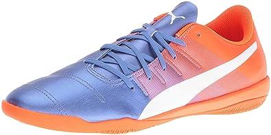 56117d03932a PUMA Men s Evopower 4.3 it Soccer Shoe Blue Yonder White