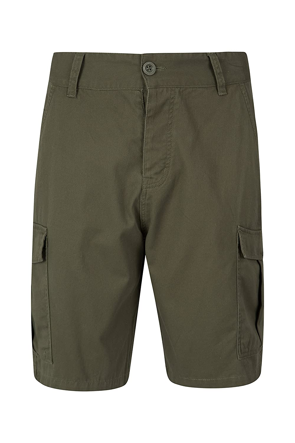 Mountain Warehouse Lakeside Mens Shorts - 100% Durable Twill Cotton Cargo Shorts, Durable Summer Shorts, 6 Pockets - for Walking, Running, Hiking & Camping Blue 30