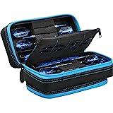 Casemaster Plazma Pro, 6 Dart Case for Soft and Steel Tip Darts, Features Large Front Mobile Device Pocket, Built-In Storage
