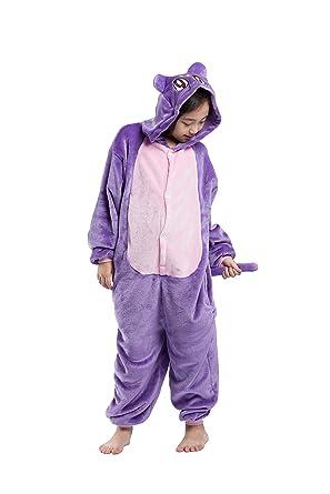 d7bcd6e4d1710 Magicmode Unisexe Enfants Cartoon Cat One Piece à Capuche Onesie Pyjamas  Cosplay Costume vêtements de Nuit