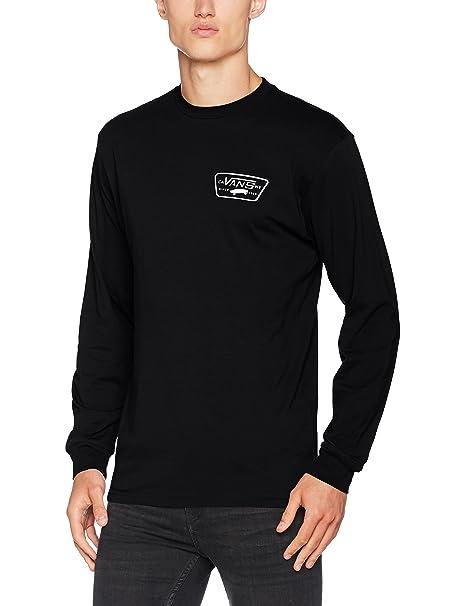 9ceda726c2cb5f Vans Men s Full Patch Back Ls T-Shirt White  Vans  Amazon.co.uk  Clothing