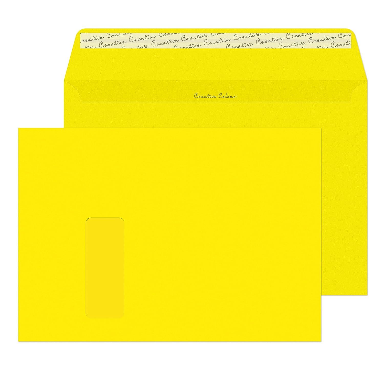 Design Range 406W - Sobres (C4, cierre autoadhesivo, 120 g/m² , 250 unidades), color rojo 120g/m² Blake Envelopes