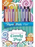 Paper Mate Flair Felt Tip Pens, Medium Point Limited Edition Candy Pop Pack, 0.7mm, Pack of 16 (1979423)